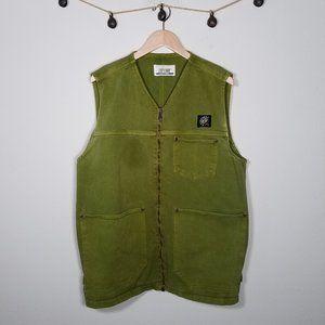 Vintage 90's Green Jean Jumper Dress Riot Grrrl L